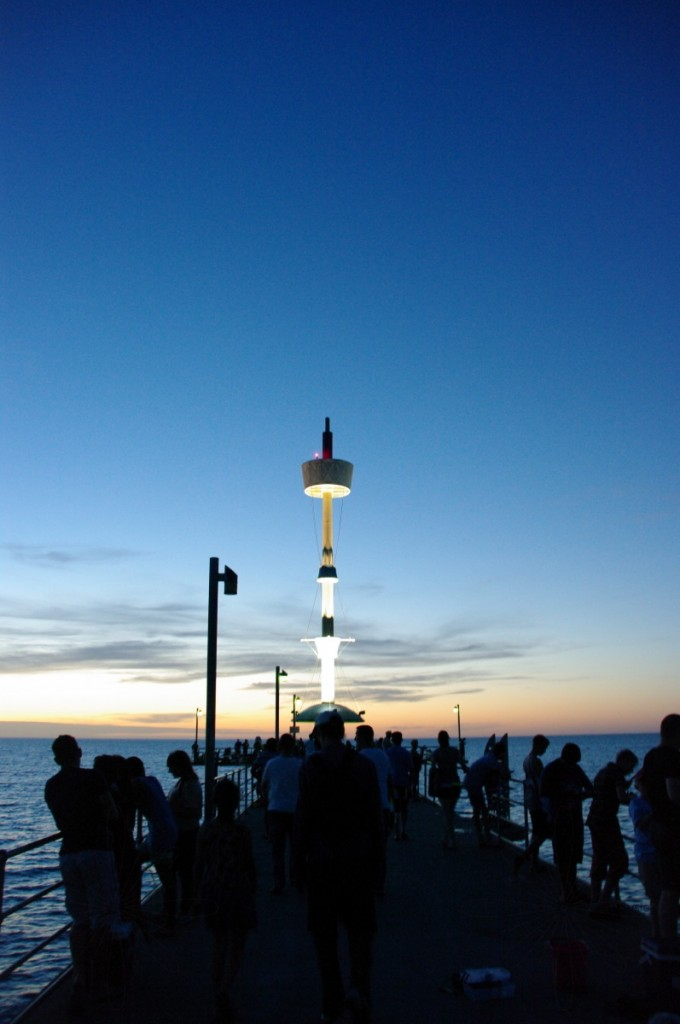 Brighton Jetty at the end of a hot 43 degree day