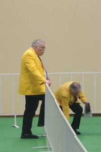 Officials at the Dog Pavilion
